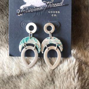Universal Thread Silver Dangle Nickel Free Earring
